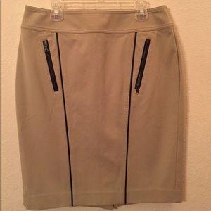 Ann Taylor Tan Pencil Skirt